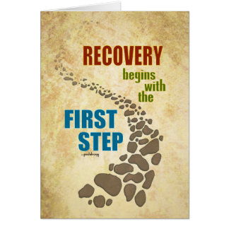 Recovery, the First Step (12 step, drug free) Note Card
