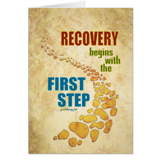 Recovery, the First Step (12 step, recovery) Note Card