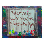 recovery walk with us a day at a time poster