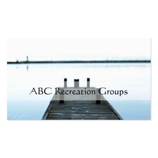 recreation business card business card template