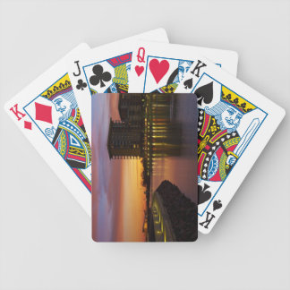 Recreation Lagoon and apartments at sunset Bicycle Poker Cards