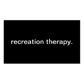 Recreation Therapy Business Card Templates