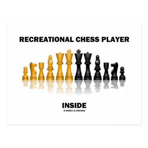 Recreational Chess Player Inside (Chess Set) Post Cards
