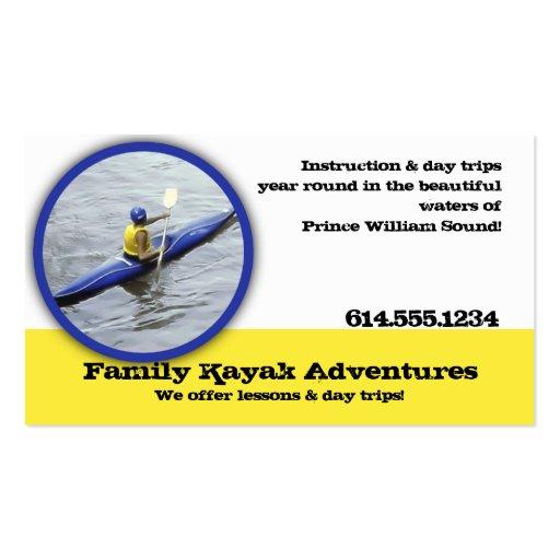 Recreational Kayaking Business Cards