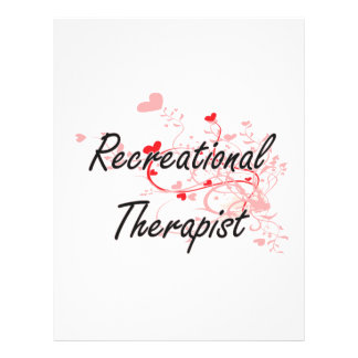 Recreational Therapist Artistic Job Design with He 21.5 Cm X 28 Cm Flyer