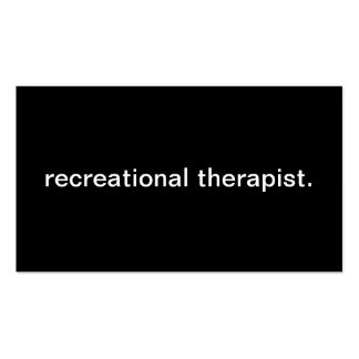 Recreational Therapist Pack Of Standard Business Cards
