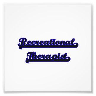 Recreational Therapist Classic Job Design Photo Print