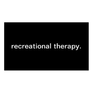 Recreational Therapy Pack Of Standard Business Cards
