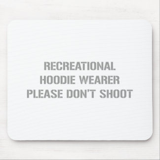 Recrecational-Hoodie-Wearer-gun-gray png Mousepad