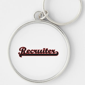 Recruiter Classic Job Design Silver-Colored Round Key Ring