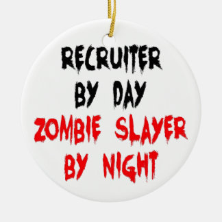 Recruiter Zombie Slayer Christmas Ornament