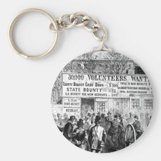 Recruiting in the New York City_War Image Basic Round Button Key Ring