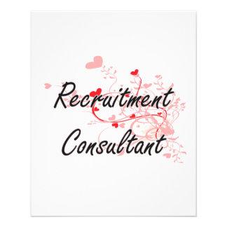 Recruitment Consultant Artistic Job Design with He 11.5 Cm X 14 Cm Flyer