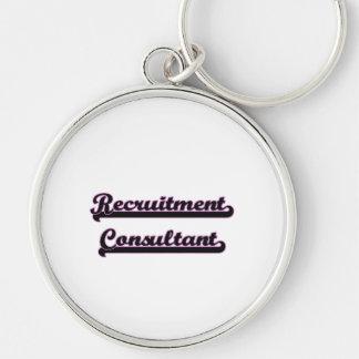 Recruitment Consultant Classic Job Design Silver-Colored Round Key Ring