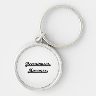 Recruitment Manager Classic Job Design Silver-Colored Round Key Ring