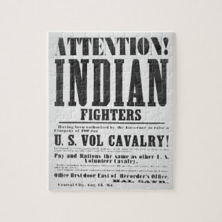 Recruitment poster for the U.S. Volunteer Cavalry, Jigsaw Puzzle