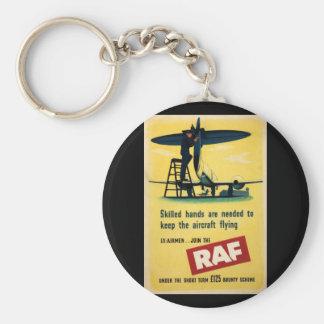 Recruitment Skilled hands_Propaganda Poster Basic Round Button Key Ring