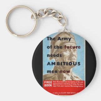Recruitment The Army_Propaganda poster Basic Round Button Key Ring