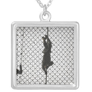 recruits completing an obstacle silver plated necklace