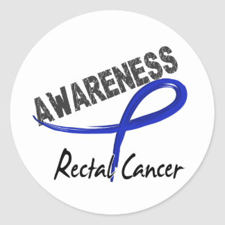 Rectal Cancer Awareness 3 Round Sticker