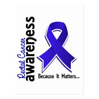 Rectal Cancer Awareness 5 Anal Cancer Postcard
