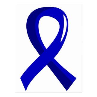 Rectal Cancer Blue Ribbon 3 Postcard