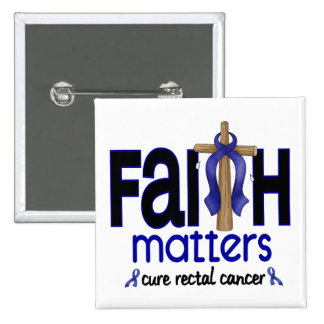 Rectal Cancer Faith Matters Cross 1 15 Cm Square Badge