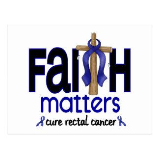 Rectal Cancer Faith Matters Cross 1 Postcard