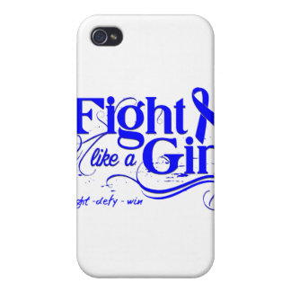 Rectal Cancer Fight Like A Girl Elegant iPhone 4 Cases