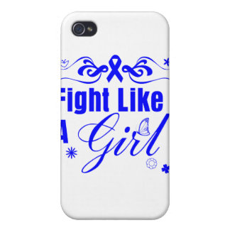 Rectal Cancer Fight Like A Girl Ornate Cases For iPhone 4