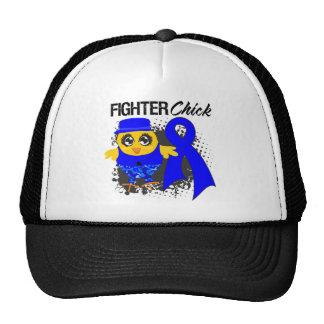 Rectal Cancer Fighter Chick Grunge Trucker Hat