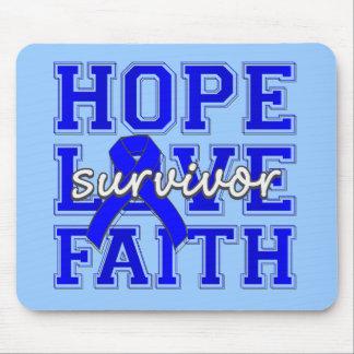 Rectal Cancer Hope Love Faith Mousepads