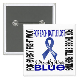 Rectal Cancer I Proudly Wear Blue 2 15 Cm Square Badge