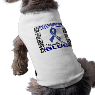 Rectal Cancer I Proudly Wear Blue 2 Pet Tshirt