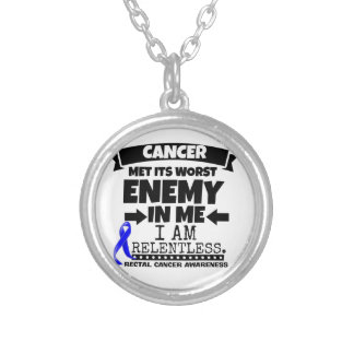 Rectal Cancer Met Its Worst Enemy in Me Round Pendant Necklace