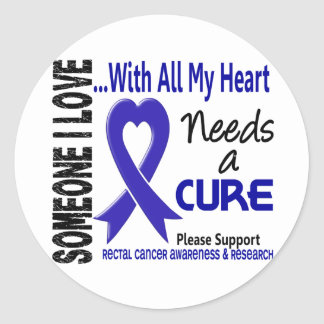 Rectal Cancer Needs A Cure 3 Round Sticker