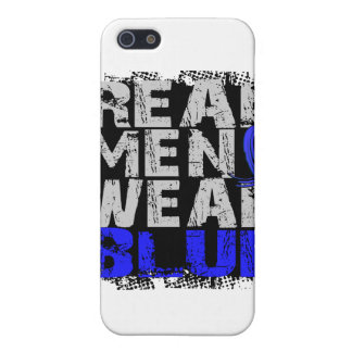 Rectal Cancer Real Men Wear Blue Case For iPhone 5