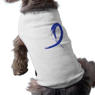 Rectal Cancer s Blue Ribbon A4 Pet Shirt