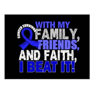 Rectal Cancer Survivor Family Friends Faith Postcard