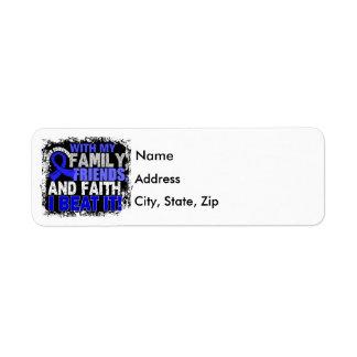 Rectal Cancer Survivor Family Friends Faith Return Address Label