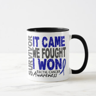 Rectal Cancer Survivor It Came We Fought I Won Mug