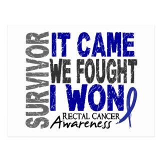 Rectal Cancer Survivor It Came We Fought I Won Postcard