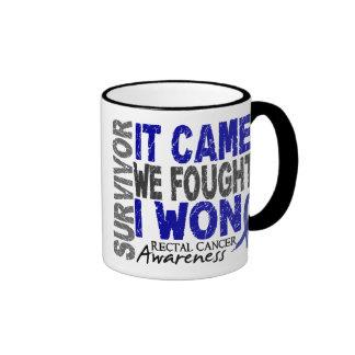 Rectal Cancer Survivor It Came We Fought I Won Ringer Mug