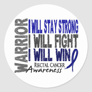 Rectal Cancer Warrior Round Sticker