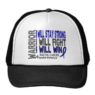 Rectal Cancer Warrior Trucker Hats