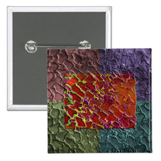 Rectangle Abstract Pieces in 5 Colors 15 Cm Square Badge