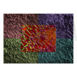 Rectangle Abstract Pieces in 5 Colours Greeting Card