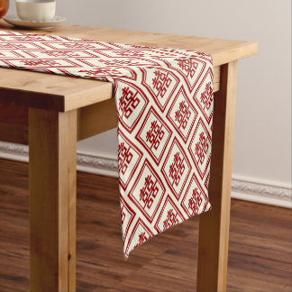 Rectangle Double Happiness Classic Chinese Wedding Short Table Runner