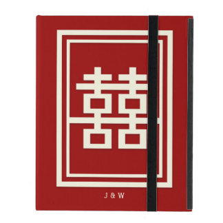 Rectangle Double Happiness Red Chinese Wedding iPad Case