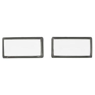 Rectangle Gunmetal Plated Cufflinks Gunmetal Finish Cufflinks